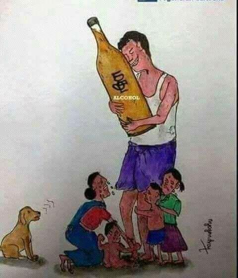 Alkoholkärlek drabbar familjen